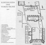 Plan fortificatie mediev Turda Veche explicatii